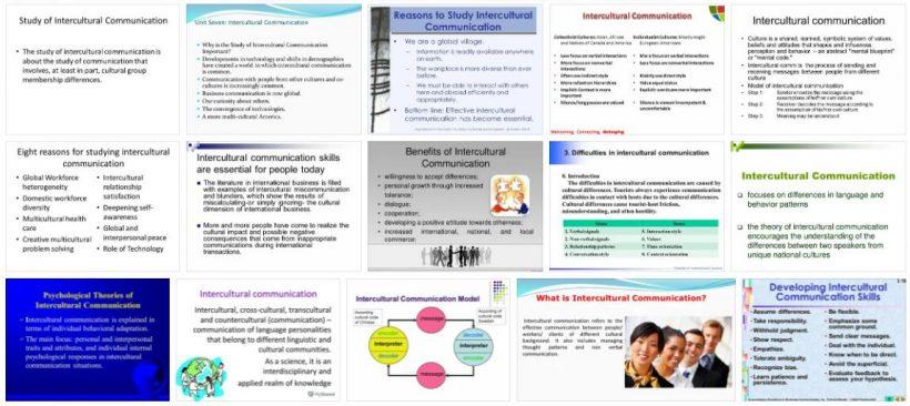Study Intercultural Communication