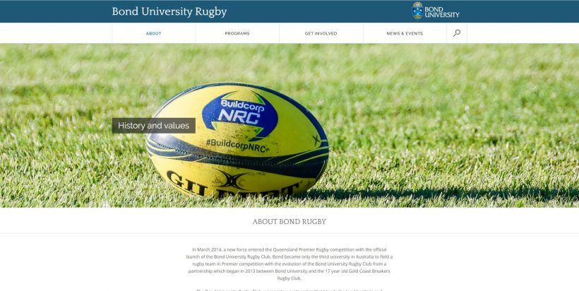 ABOUT BOND RUGBY