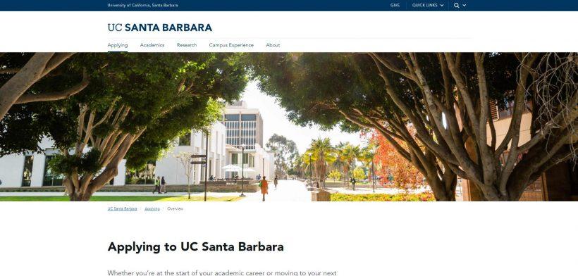 Applying to UC Santa Barbara