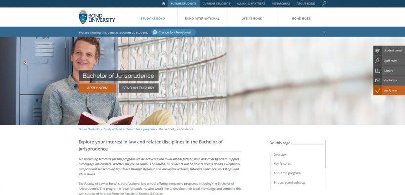 Bachelor of Jurisprudence Bond University