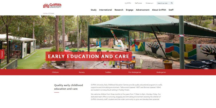 Childcare - Griffith University