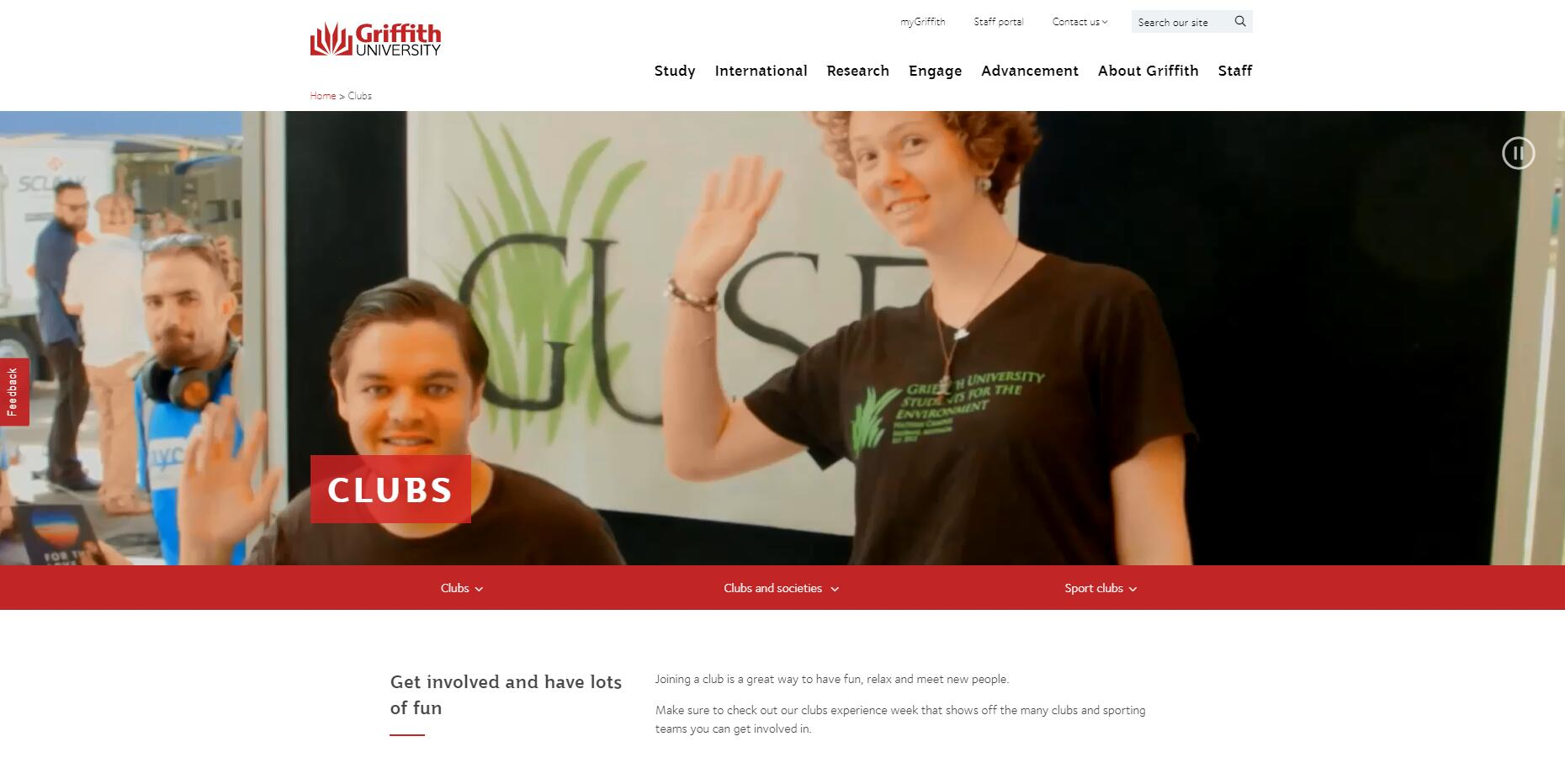Clubs - Griffith University