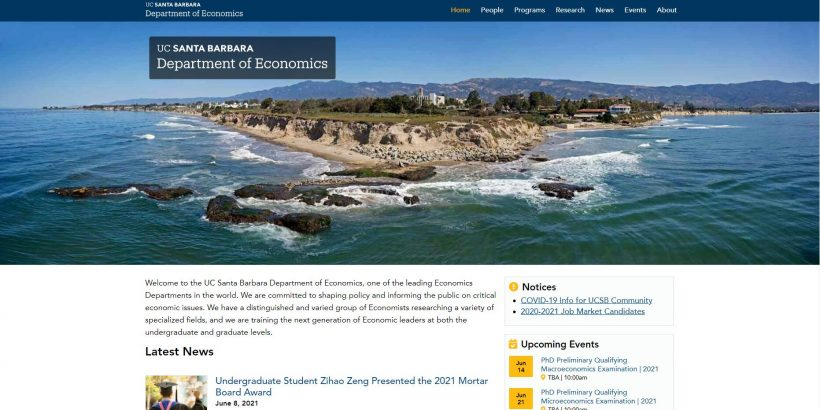 Department of Economics - UC Santa Barbara
