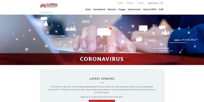 Griffith University Coronavirus