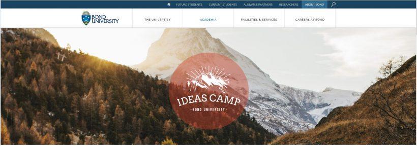 Ideas camp Bond University