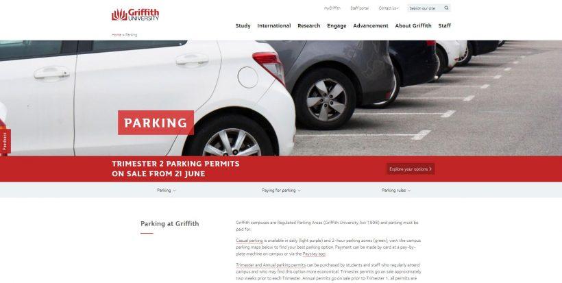 Parking - Griffith University
