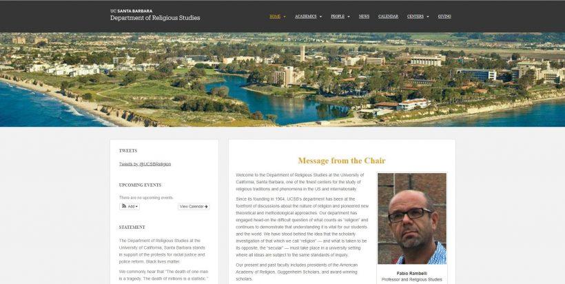 Religious Studies, UC Santa Barbara