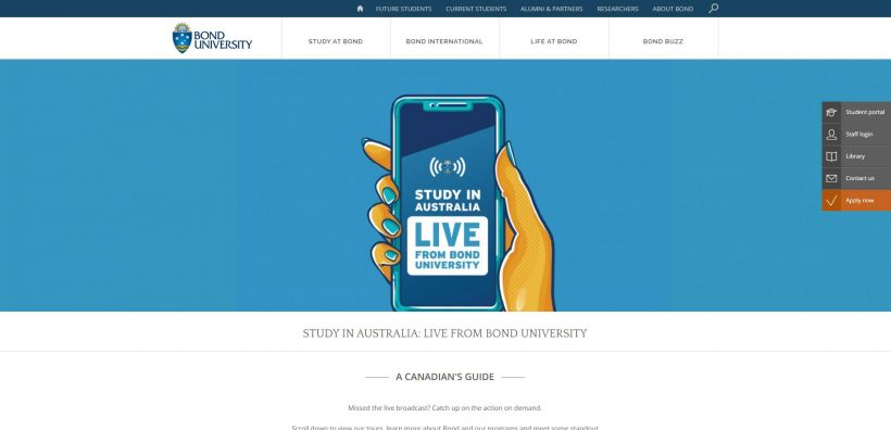 STUDY IN AUSTRALIA Bond University