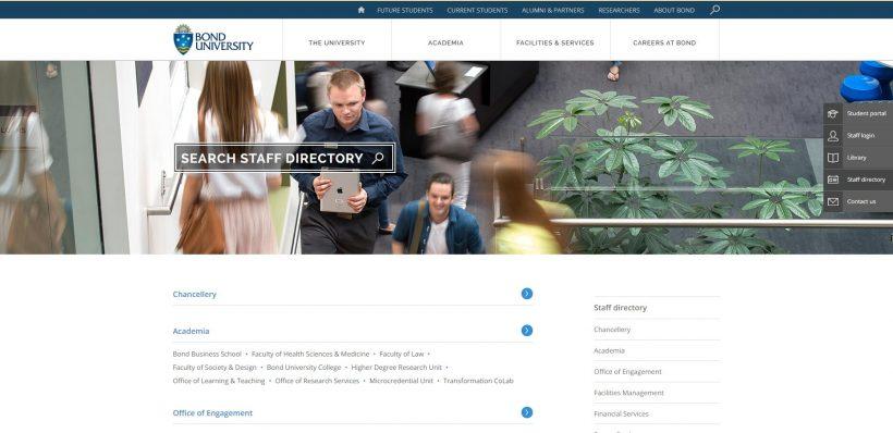 Staff directory Bond University