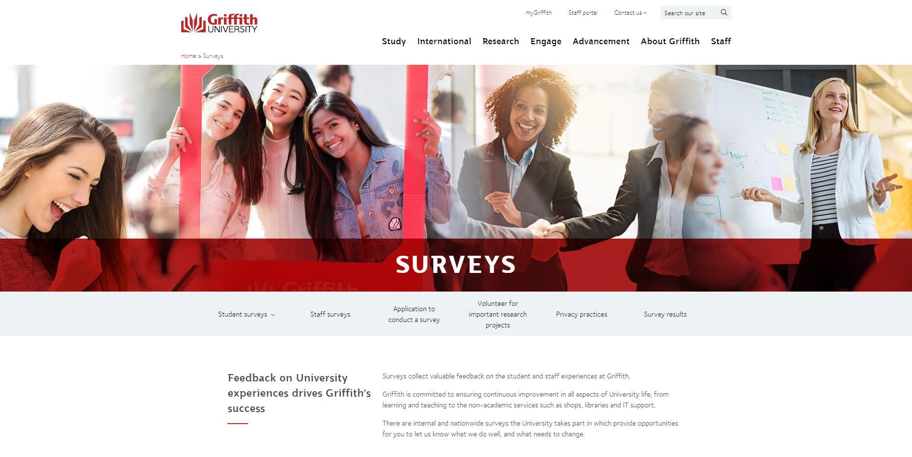 Surveys - Griffith University