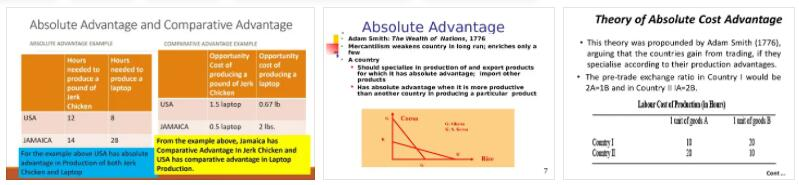 Absolute Cost Advantages